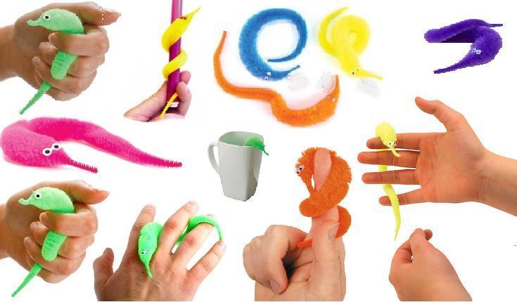 Как сделать игрушку червяка